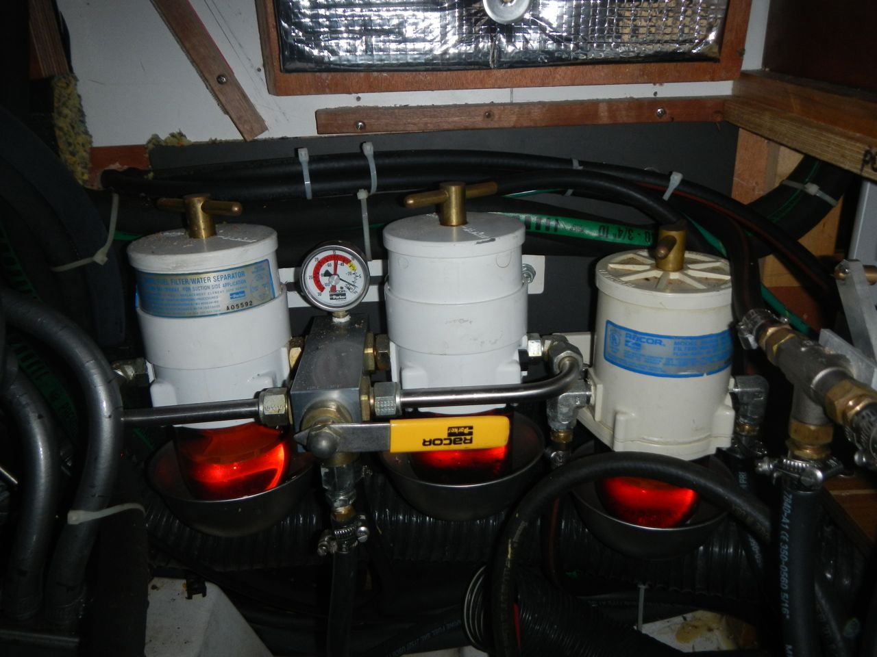 Aft Fuel Tank Sailing Vessel Echo E350 Filter I Also Added A Dual Racor System For The Main Engine This Allows Us To Switch Filters On Fly If One Gets Plugged Up