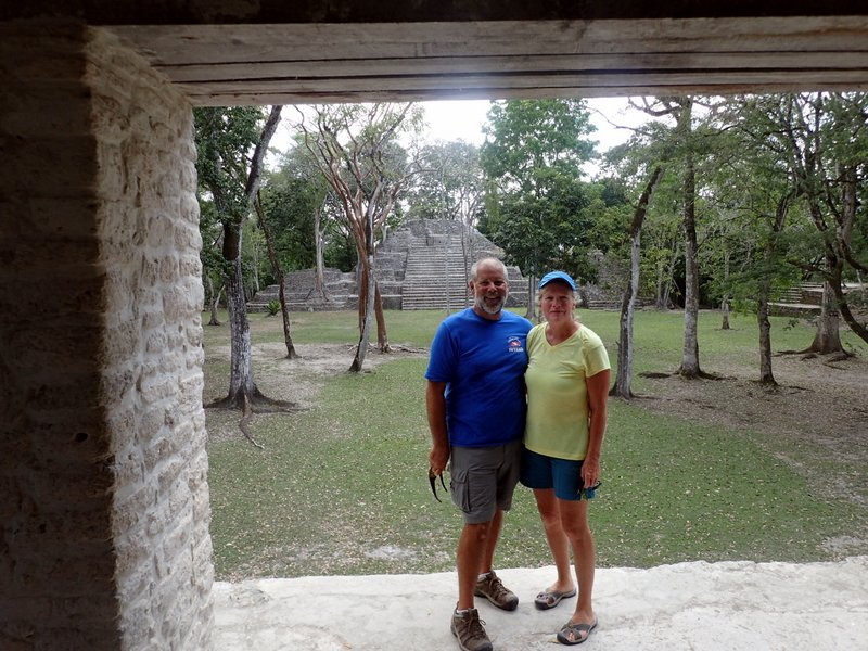 Jeff and Mary at Cahal Pech