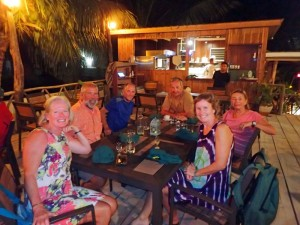 Dinner with Alembic and Shamal in Caye Caulker